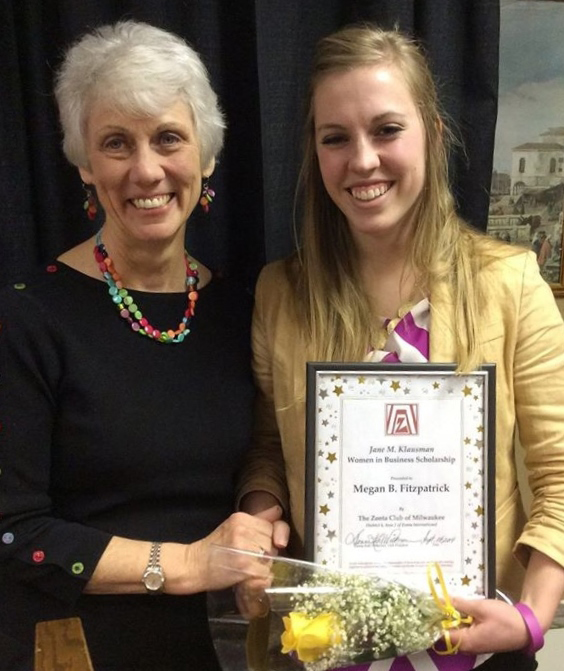 Megan Fitzpatrick, 2014 recipient of the Women in Business Scholarship with Missy Creevey