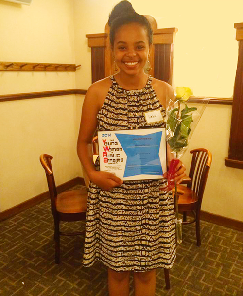 Helen Fetaw, 2014 recipient of the Young Women in Public Affairs Scholarship